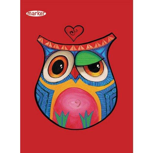 "Тетрадь на кольцах ""Color Owl"" А5"