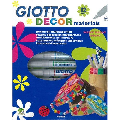 Набор фломастеров для декора различных поверхностей Decor Materials, 12 цветов