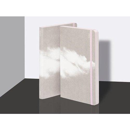 """Блокнот нелинованный """"Cloud"""" А5, 88 листов, розовый"""