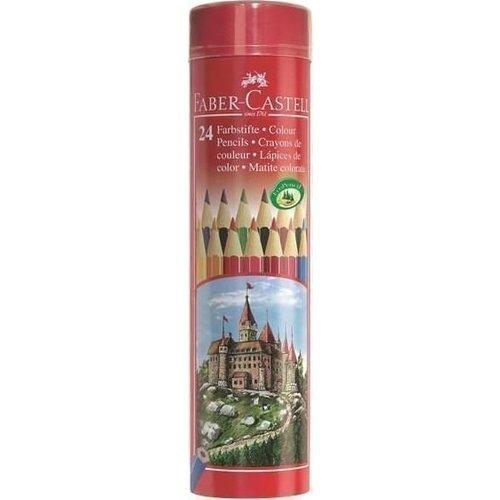 Карандаши цветные в металлическом тубусе, 24 цвета цветные карандаши stabilo aquacolor в металлическом футляре 24 цвета