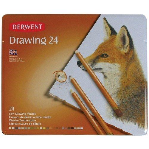 Фото - Карандаши цветные Drawing, 24 цвета карандаши