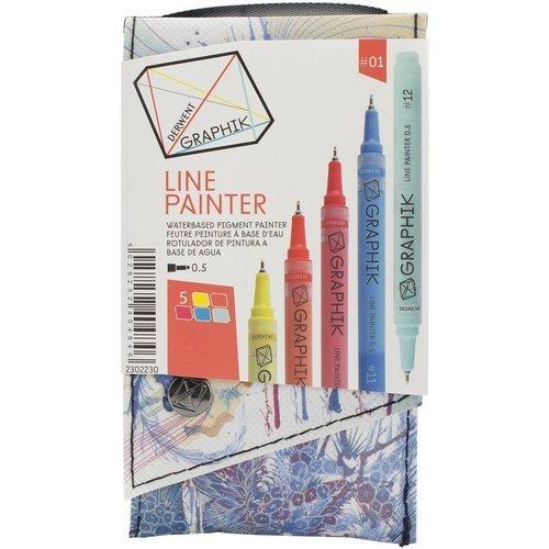Набор из 5 лайнеров Line Painter мультилайнер derwent line painter 15 красное дерево