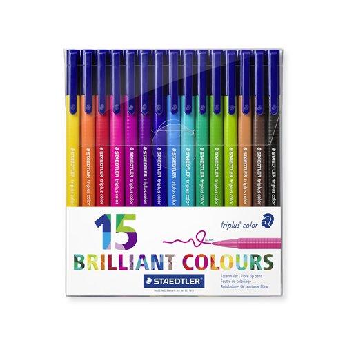 Набор фломастеров Triplus Сolor, 15 цветов staedtler набор фломастеров triplus сolor 32 цвета трехгранные яркие цвета