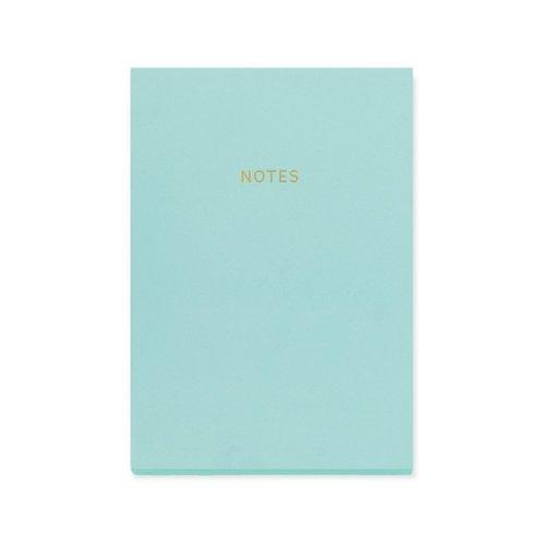 """Блокнот """"Цветной блок"""" А5, 80 листов, голубой"""