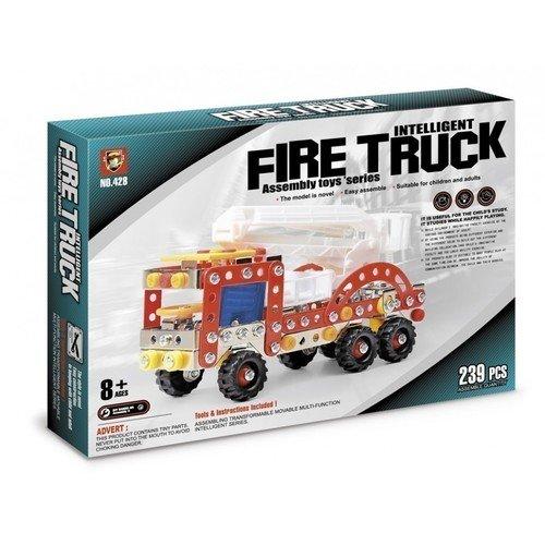 Конструктор металлический Пожарная машина конструктор металлический пожарная машина 239 детали