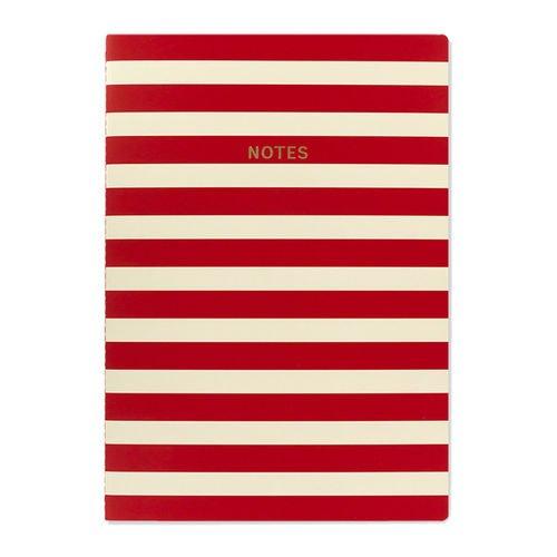 Блокнот Цветной блок. Красно-белые полосы А4, 40 листов адаптер питания от сети ginzzu ga 2180u для ноутбуков 80вт 13 коннекторов 1хusb 1a