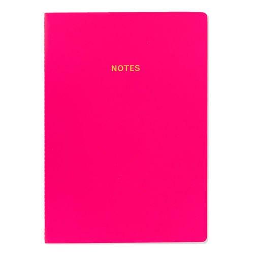 Блокнот Цветной блок А4, 40 листов, темно-розовый платье oodji ultra цвет темно синий розовый 11910073b 26346 7941f размер 36 164 42 164