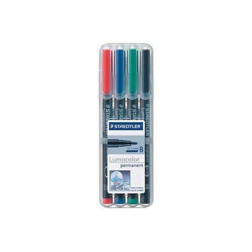 """Набор перманентных маркеров """"Lumocor"""", 4 цвета"""