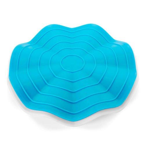 Фото - Прихватка-подставка под горячее Wave, голубая / белая подставка