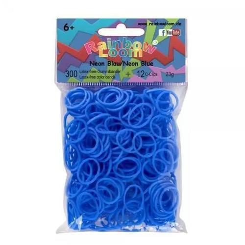 Резиночки для плетения силиконовые Neon Blue голубые резиночки для плетения loom twister набор цветных резинок для плетения фенечек sv11818