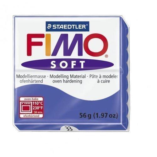 """Глина полимерная """"Soft"""", запекаемая, 56 гр, блестящий синий"""