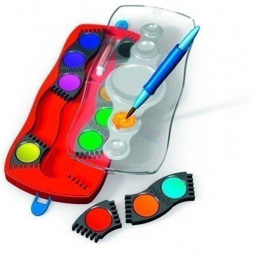Фото - Краски акварельные Connector, с кисточкой, 12 цветов акварельные 3d картины быстрая машинка