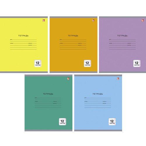 Тетрадь в узкую линейку Однотонная серия А5 в ассортименте bg тетрадь отличная 12 листов в косую линейку цвет зеленый 15085