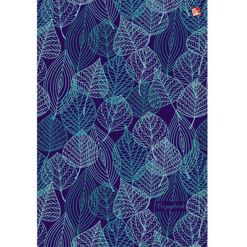 Тетрадь на кольцах Орнамент из листьев, А5, 100 листов, клетка тетрадь floret 120 листов кольцевой механизм клетка а5 n989