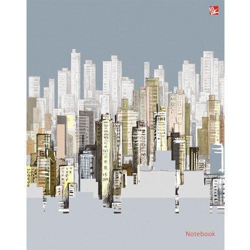 Записная книжка Графика. Стильный город, А5, 64 листа, в клетку канц эксмо записная книжка вокруг света очарование праги в клетку 64 листа