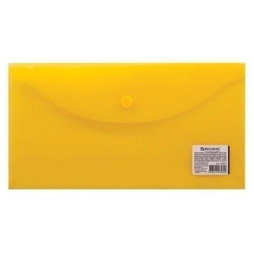 Папка-конверт с кнопкой прозрачная желтая папка конверт с кнопкой а5 прозрачная желтая