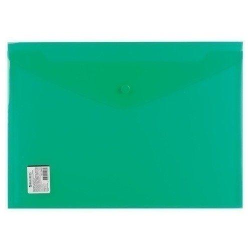 Папка-конверт с кнопкой А4, прозрачная, плотная, зеленая папка конверт с кнопкой а4 прозрачная плотная синяя