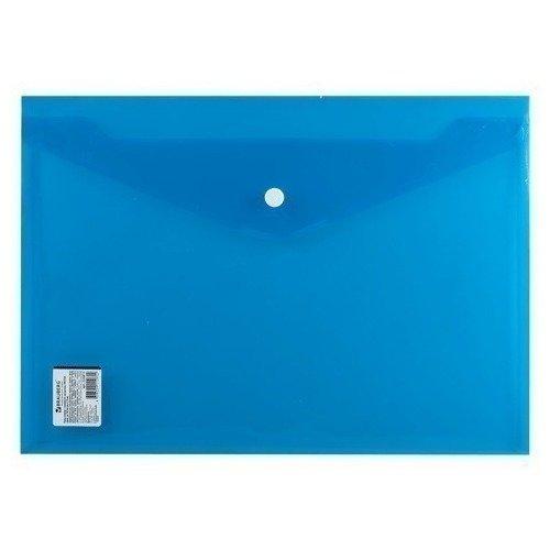 Папка-конверт с кнопкой А4, прозрачная, плотная, синяя папка конверт с кнопкой а4 прозрачная плотная синяя