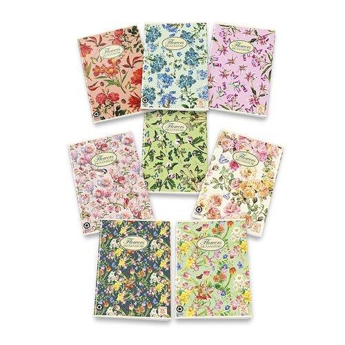 Тетрадь Природные цветы A5 папка на резинке природные цветы a4 в ассортименте