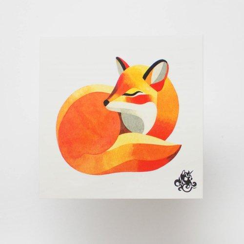 """Временное тату """"Kid fox"""""""