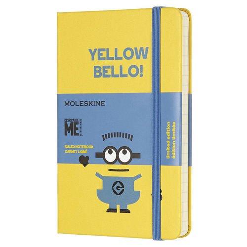 Блокнот Minions Pocket, 96 листов, в линейку, желтый блокнот pocket 96 листов в линейку бордовый