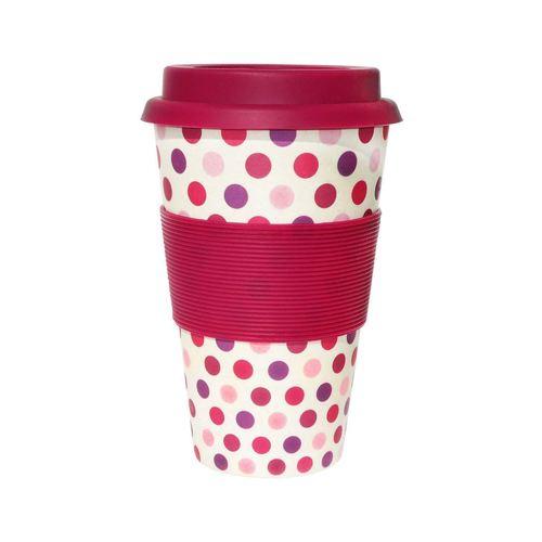Термостакан Pink Polka, 400 мл, малиновый корзина универсальная metaltex pandino цвет малиновый 33 см х 12 см х 9 см