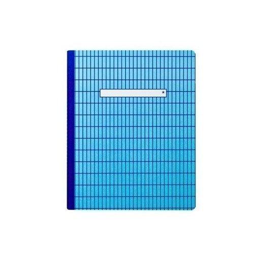 Тетрадь в клетку А5 голубая тетрадь в клетку с нанесением текста школа