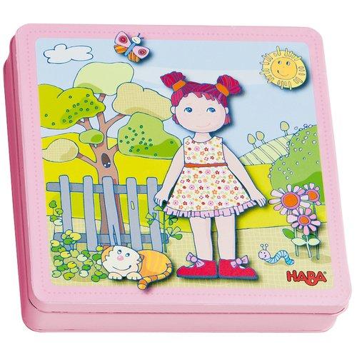 Купить Магнитная игра одевалка Кукла Лили , Haba, Развлекательные и развивающие игрушки
