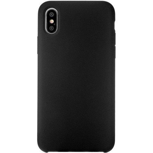 Чехол защитный силиконовый для iPhone Х софт-тач черный чехол