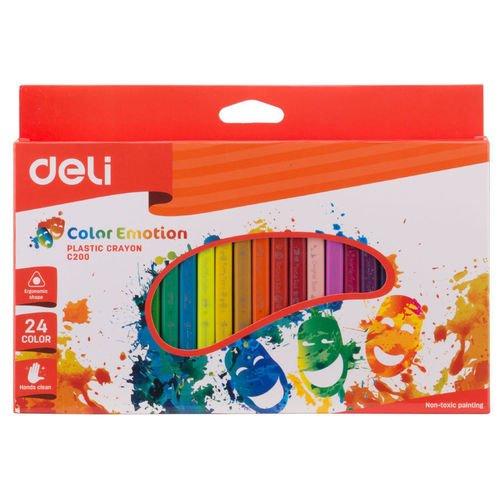 Восковые мелки EC20020 Color Emotion трехгранные 24 цвета карандаши восковые мелки пастель giotto мелки восковые мелки cera ast 24 цвета