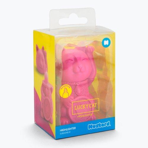 Текстовыделитель Lucky Cat, розовый дутики женские lucky land цвет синий розовый 1566w h eva размер 40