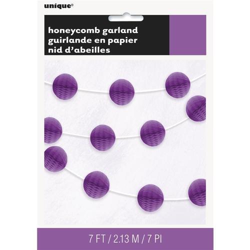 Гирлянда с фиолетовыми шарами Honeycomb, 2,1 м