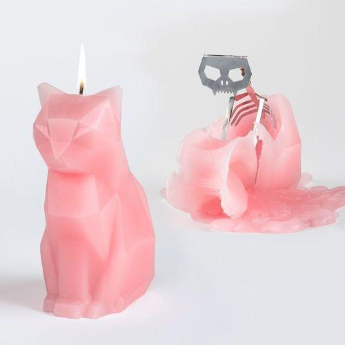 Свеча Kisa Candle, розовая свеча праздничная lefard merry christmas 348 437 разноцветный 6 х 7 см