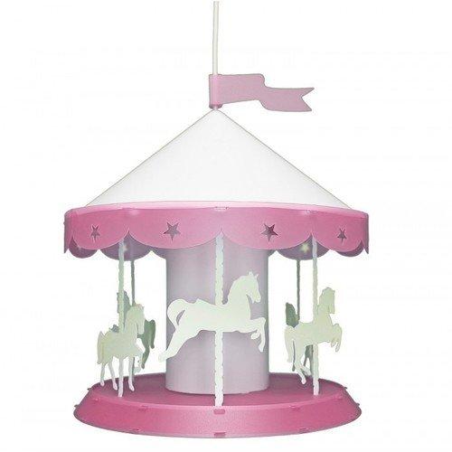 Светильник Карусель, розовый настольный светильник risalux мечта e27 3218469 розовый 28 х 28 х 44 см