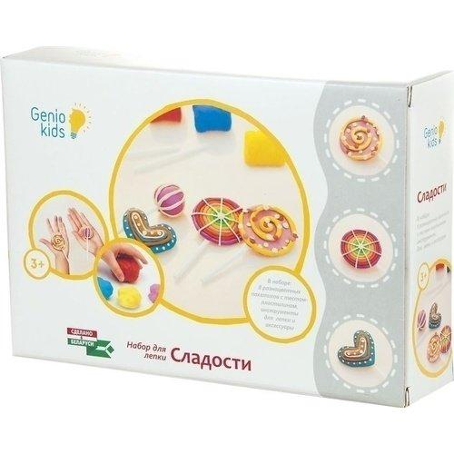 Набор для детской лепки Сладости genio kids набор для детского творчества котик
