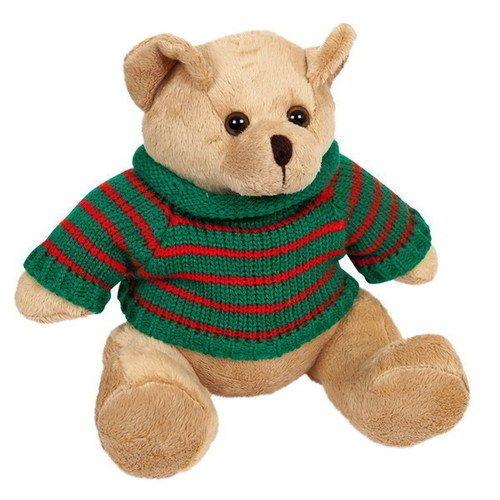 Мягкая игрушка Медведь в свитере, 12 см цена