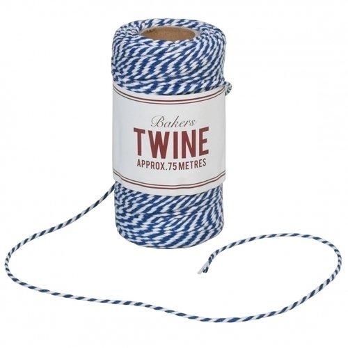 Нить хлопковая Bakers Twine, navy blue and white, 75 м tatonka bison 75 navy