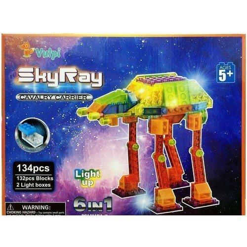 Светодиодный конструктор 6 в 1 Космические аппараты конструктор пластиковый со светодиодами sky ray набор 6 в 1 в мире животных 132эл
