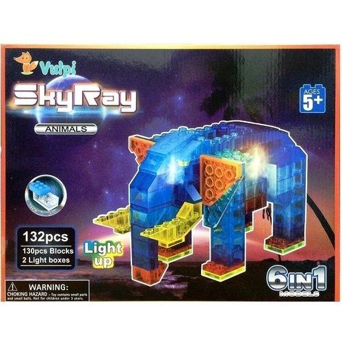 Светодиодный конструктор 6 в 1 В мире животных конструктор пластиковый со светодиодами sky ray набор 6 в 1 в мире животных 132эл