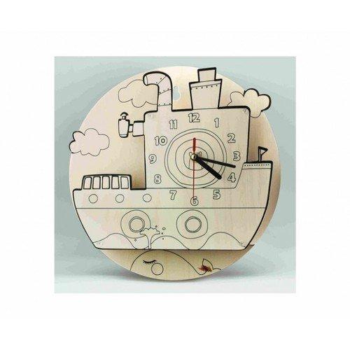 Часы-конструктор Яхта-раскраска набор для творчества конструктор раскраска домик собачка перепл картон с европодвесом