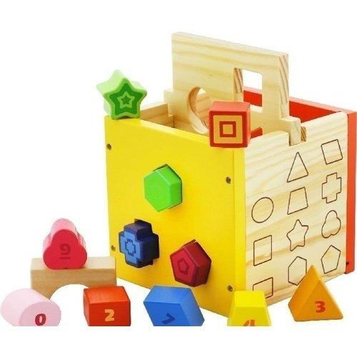 Деревянный куб-сортер пластмастер сортер логический куб
