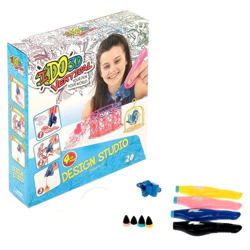 """3D ручка """"Вертикаль"""" Милые создания 155237С, розовая/белая/синяя/желтая, 4 шт."""