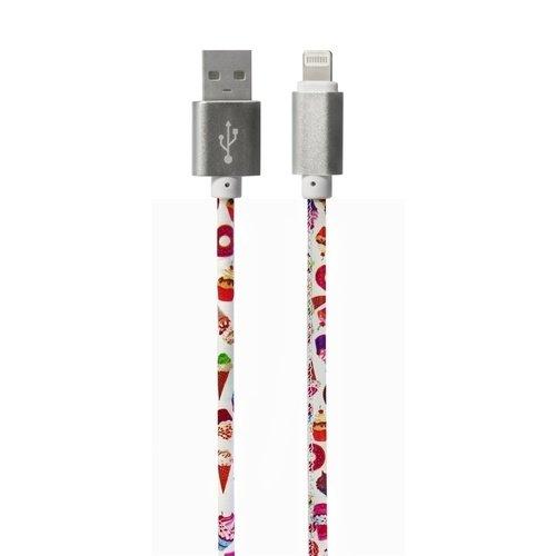 """Дата-кабель Lightning/USB """"Сладости"""", кожзам"""