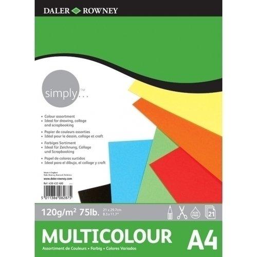 Альбом цветной бумаги Simply А3, 120 г/м2, 21 лист альбом склейка чёрной бумаги kids 10 л 220 г м2 21 х 29 7 см