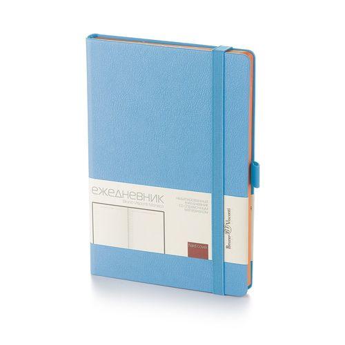 """Ежедневник на резинке """"Monaco"""" 3-518/09 А5, голубой, 272 стр."""