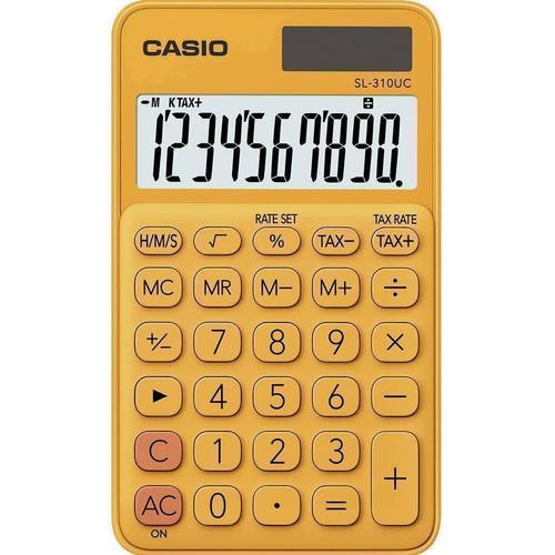 Калькулятор карманный Casio оранжевый