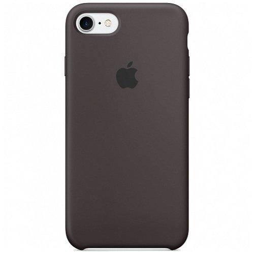 "Крышка для iPhone 7 ""Apple Silicone Case"", темное какао"