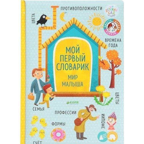 Книжки-картонки. Мой первый словарик. Мир малыша стоимость