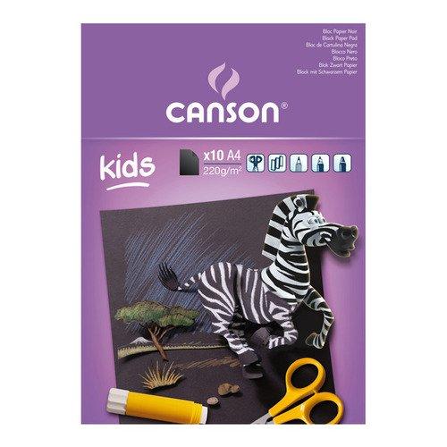 Альбом-склейка чёрной бумаги Kids, 10 л, 220 г/м2, 21 х 29,7 см альбом склейка чёрной бумаги kids 10 л 220 г м2 21 х 29 7 см