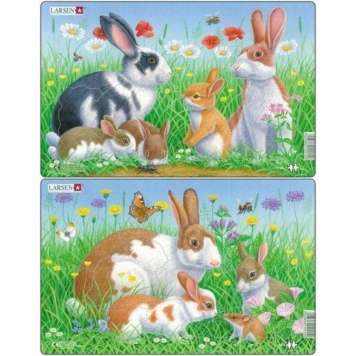 Купить Пазл Кролики , 8 элементов, Larsen, Пазлы